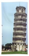 Leaning Tower Beach Towel