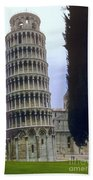 Leaning Tower Of Pisa Beach Towel