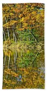 Leaning Trees Beach Towel
