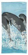 Leaping Dolphins Beach Towel