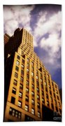 Leaps Tall Buildings With A Single Bound - Skyscraper Beach Towel