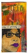 Learning From Yesterday - Journal Art Beach Towel