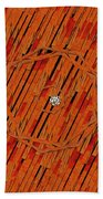 Leather In Love With A Lion Beach Towel