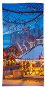 Leavenworth Gazebo Beach Towel by Inge Johnsson