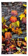 Leaves At The Levee Beach Towel