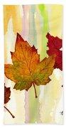 Leaves Of Fall Beach Towel