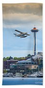 Leaving Seattle Beach Towel