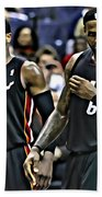 Lebron James And Dwyane Wade Beach Towel