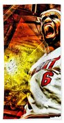 Lebron James Art Poster Beach Towel