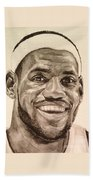 Lebron James Beach Towel by Tamir Barkan