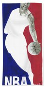 Lebron Nba Logo Beach Towel by Tamir Barkan