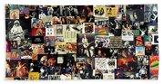 Led Zeppelin Collage Beach Sheet