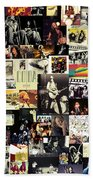 Led Zeppelin Collage Beach Towel