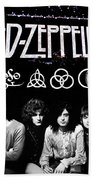 Led Zeppelin Beach Towel by FHT Designs