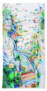 Led Zeppelin - Watercolor Portrait.2 Beach Towel