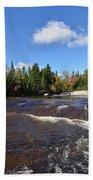 Ledge Falls Maine Beach Towel