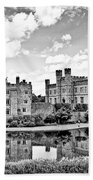 Leeds Castle Black And White Beach Towel