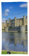 Leeds Castle Moat 2 Beach Towel