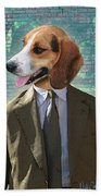 Legal Beagle Beach Towel by Nikki Smith