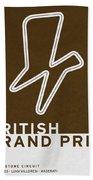 Legendary Races - 1948 British Grand Prix Beach Towel