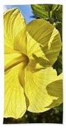Lemon Yellow Hibiscus Beach Towel