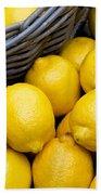 Lemons 01 Beach Towel