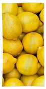 Lemons 02 Beach Towel