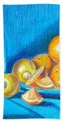 Lemons And Oranges Beach Towel