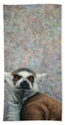 Lemur Beach Towel by James W Johnson