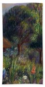 Lenna By A Summer House Beach Towel by William James Glackens