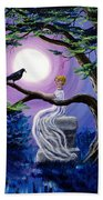 Lenore By A Cypress Tree Beach Towel