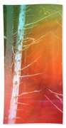 Lens Flare In The Forest Beach Towel