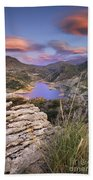 Lenticular Clouds At Canales Lake Beach Towel