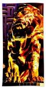 Leo The Lion Beach Towel