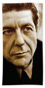 Leonard Cohen Artwork Beach Towel