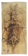 Leonardo: Anatomy, C1510 Beach Towel