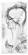 Leonardo: Brain, C1490 Beach Towel