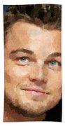 Leonardo Dicaprio Portrait Beach Towel