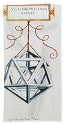 Leonardo Icosahedron Beach Towel