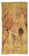 Leonardo: Legs, C1508 Beach Towel