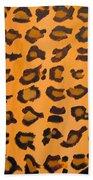 Leopard Print Hand Painted Leopard Print  Beach Towel