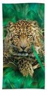 Leopard - Spirit Of Empowerment Beach Towel