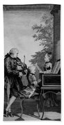 Leopold Mozart And His Two Children Beach Towel
