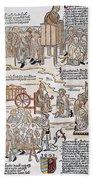 Lepers, 1493 Beach Towel