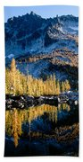 Leprechaun Lake Larch Trees Beach Towel