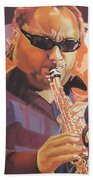 Leroi Moore Purple And Orange Beach Towel