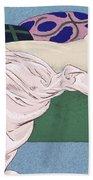 Les Cinq Sens Beach Towel