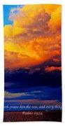 Let The Heavens Beach Towel