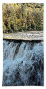Letchworth State Park Middle Falls In Autumn Beach Sheet