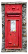 Victorian Red Letter Box Beach Towel